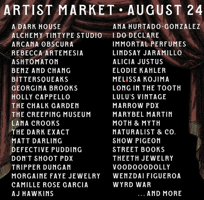 Artists at the Creeping Museum Market 2019.jpb
