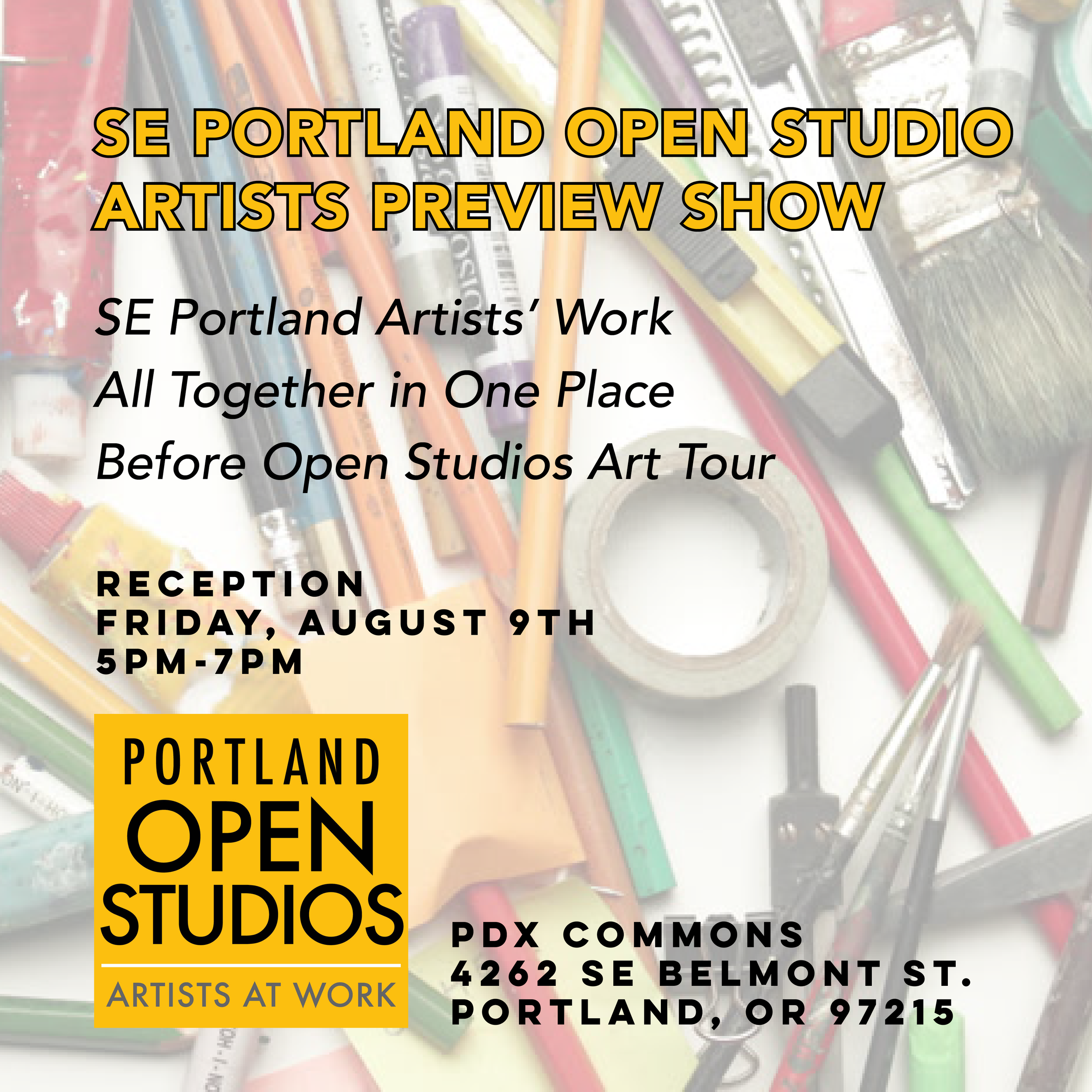 SE Artists Art Show at PDX Commons-Sq-Promo.png