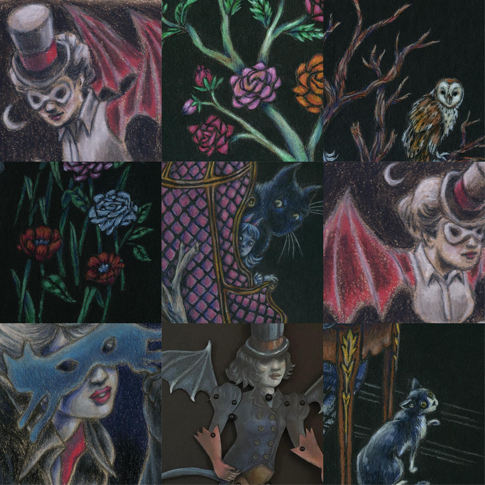 9x9 Collage-Art From the Strange Land-Melissa Kojima.jpg