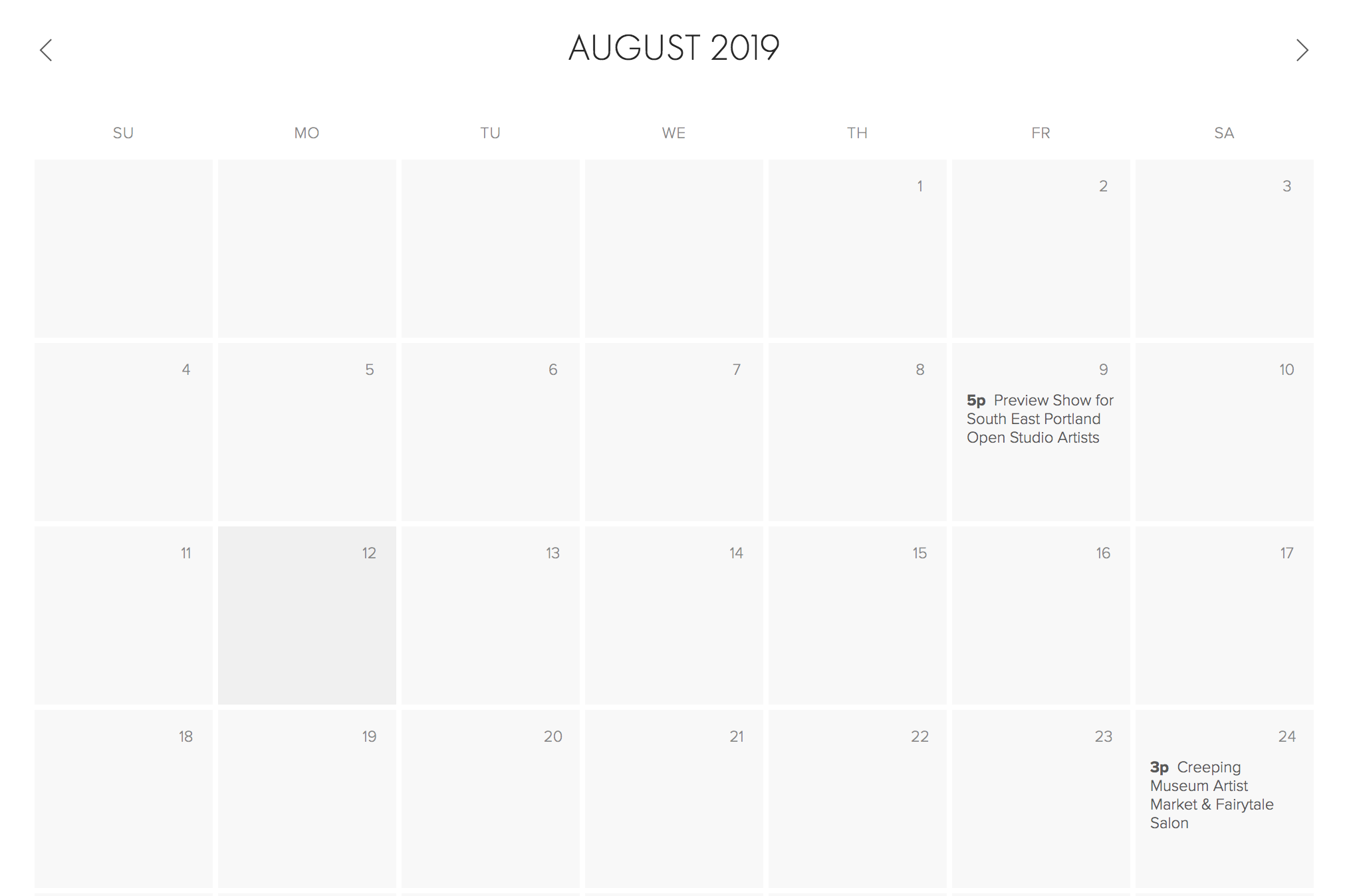 Calendar for New Events--Art From the Strange Land.png