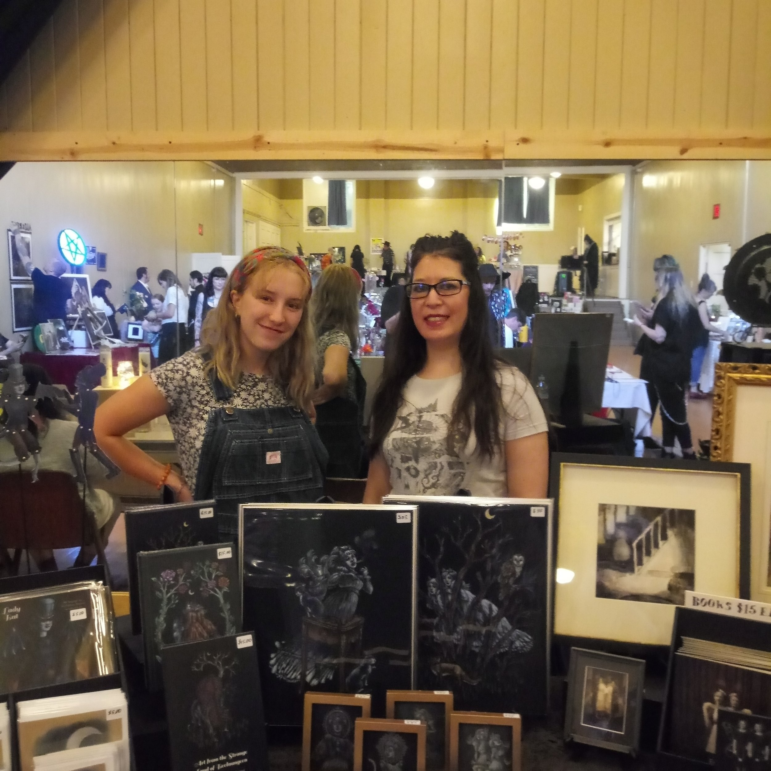 Our art intern, Ella Jones helped with the artist market table. A big thanks to her.