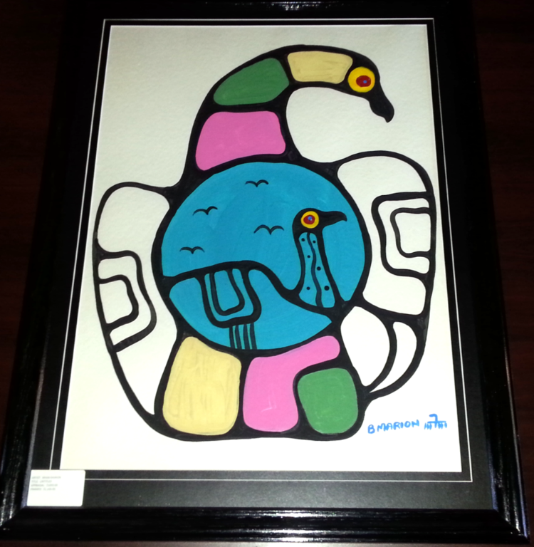 """Brian Marion Woodland Art - Apprentice to Norval Morrisseau, the """"father of Woodland Aboriginal Art."""""""