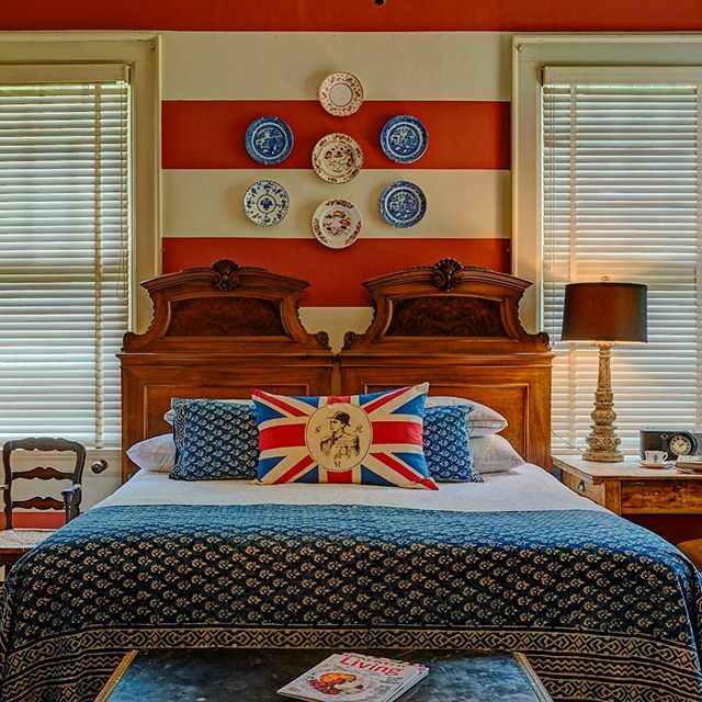 The Suite- come and stay a while! #english #british #stripes #gettaway #retreat #weddings #anniverary #waxahachie #dallas #metroplex #staycation #stayhere #bandb #interiors