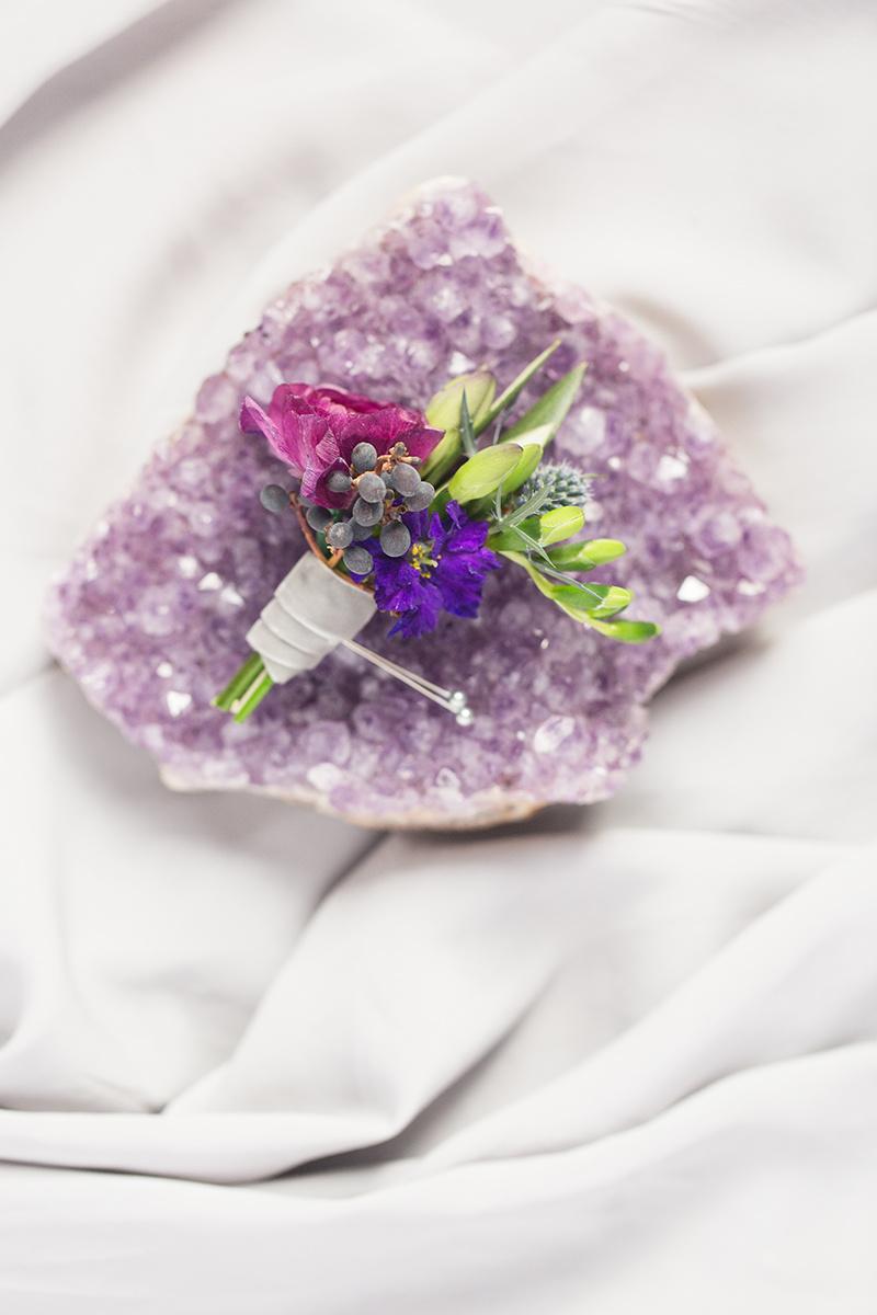 Ultraviolet Wedding Boutonniere Geode Ideas DC Event Planner A Griffin Events 8.jpg
