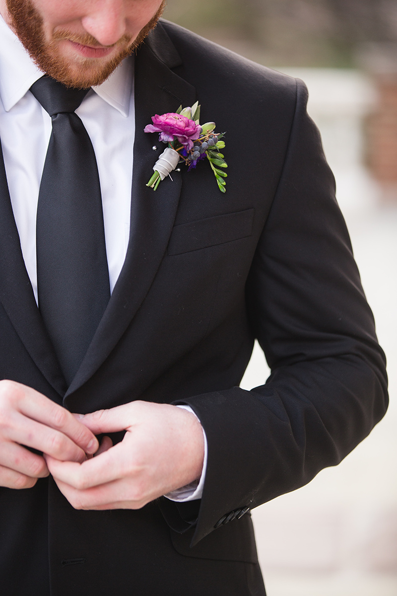 Ultraviolet Wedding Ideas Groom's Suit Boutonniere DC Event Planner A Griffin Events 54.jpg
