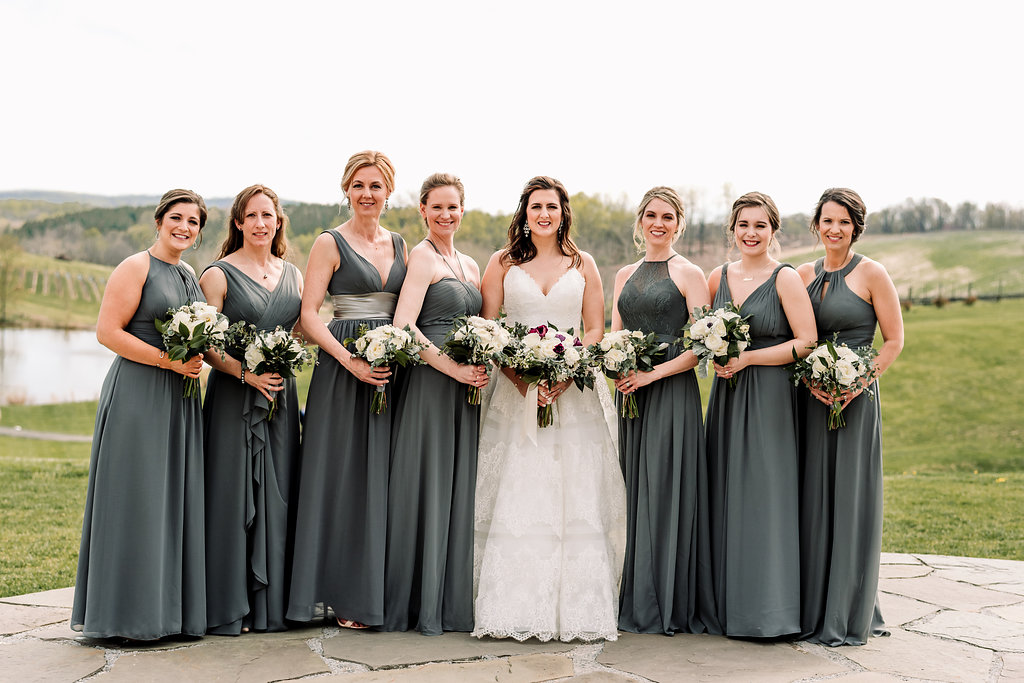 Gray Bridesmaids Dress Stone Tower Winery A Griffin Events61.jpg