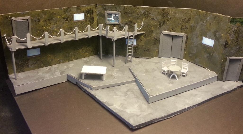 """FAR AWAY  By: Caryl Churchill Venue: Valencia College Black Box Theatre Model - Scale: 1/4"""" = 1'0"""""""