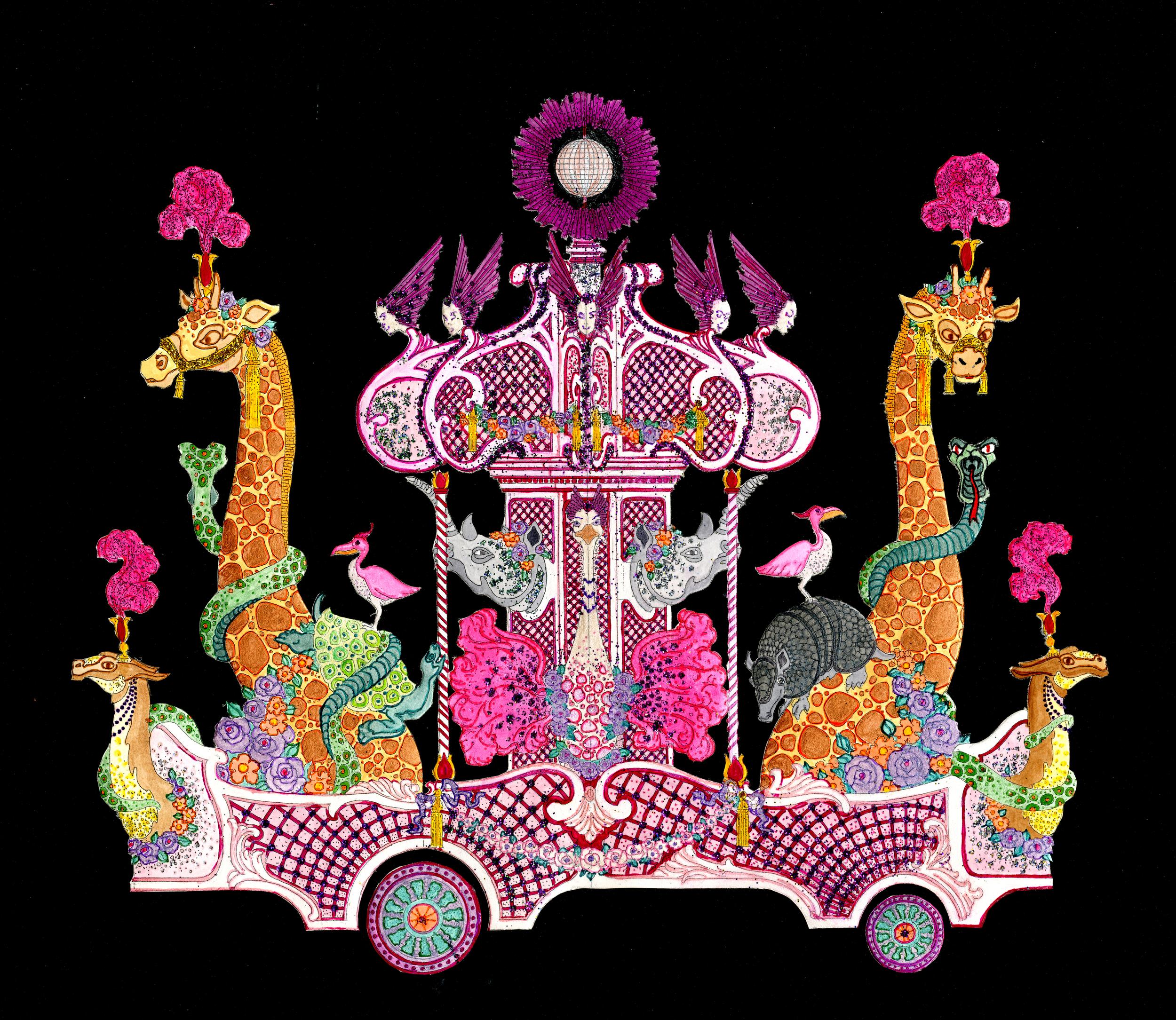 "BARNUM & BAILEY CIRCUS FLOAT  Design by: Eduardo Sicangco Paint: Jamie DeHay Scale: 3/8"" = 1'0"""