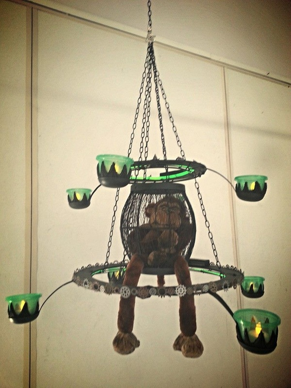 Character chandelier project.