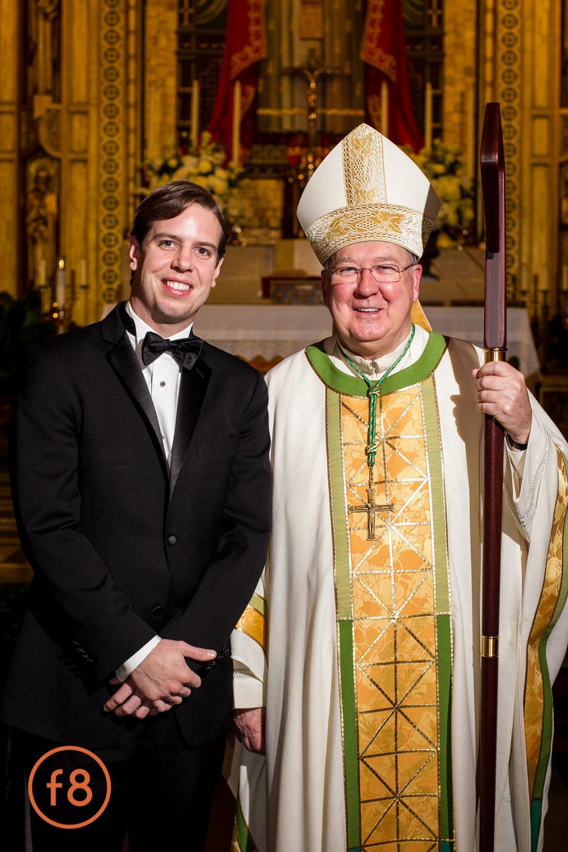Cardinal at the church.