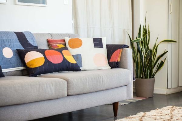 Mojave Lumbar Pillow and Trans Pecos Pillow