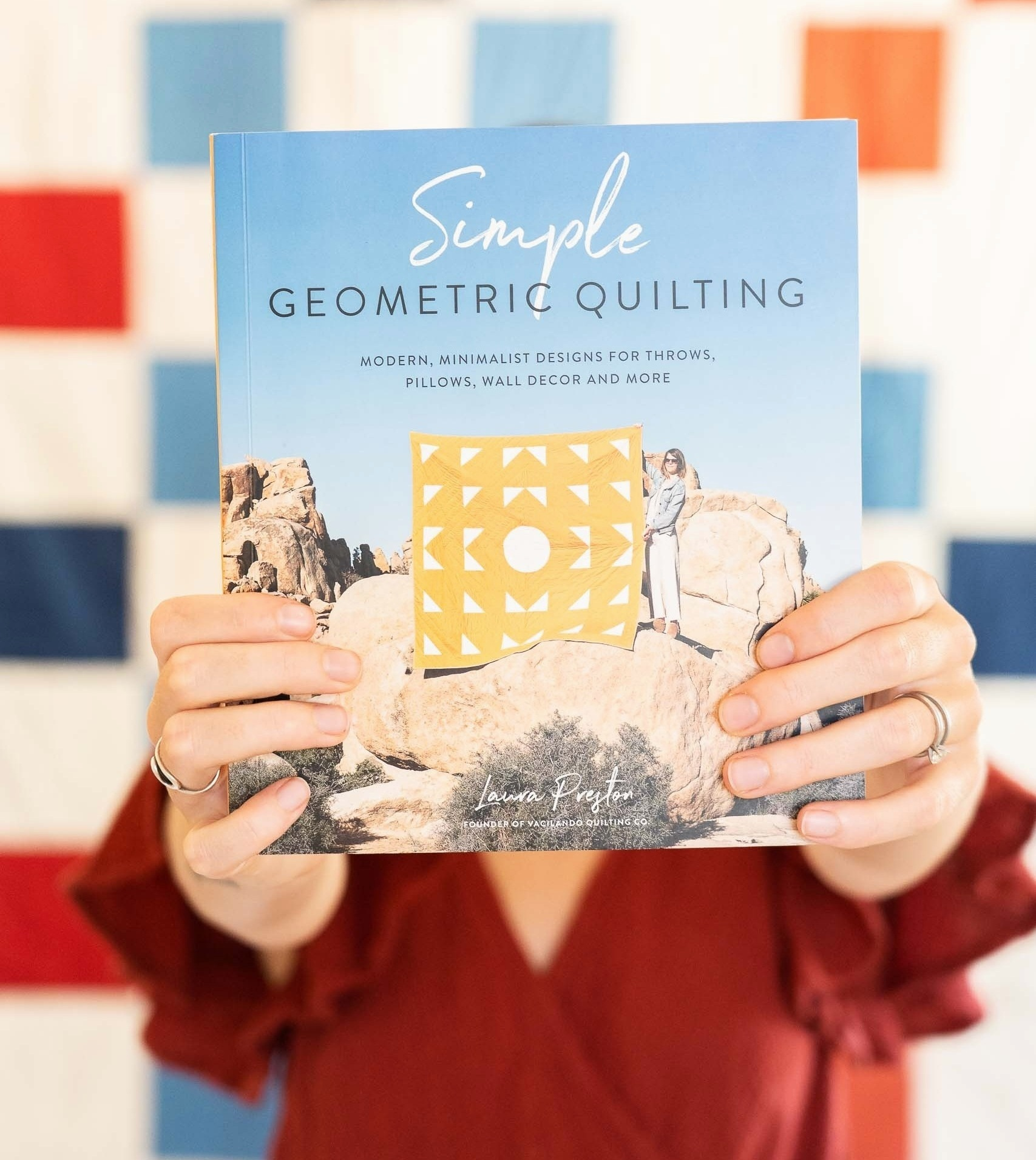 Order a signed copy of Simple Geometric Quilting, available August 27, 2019 or learn the basics of quilting with the Atlantic Quilt Pattern + Tutorial.