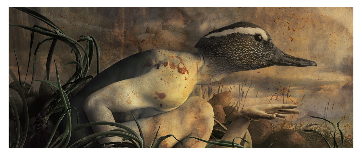 Duck in reeds 2002