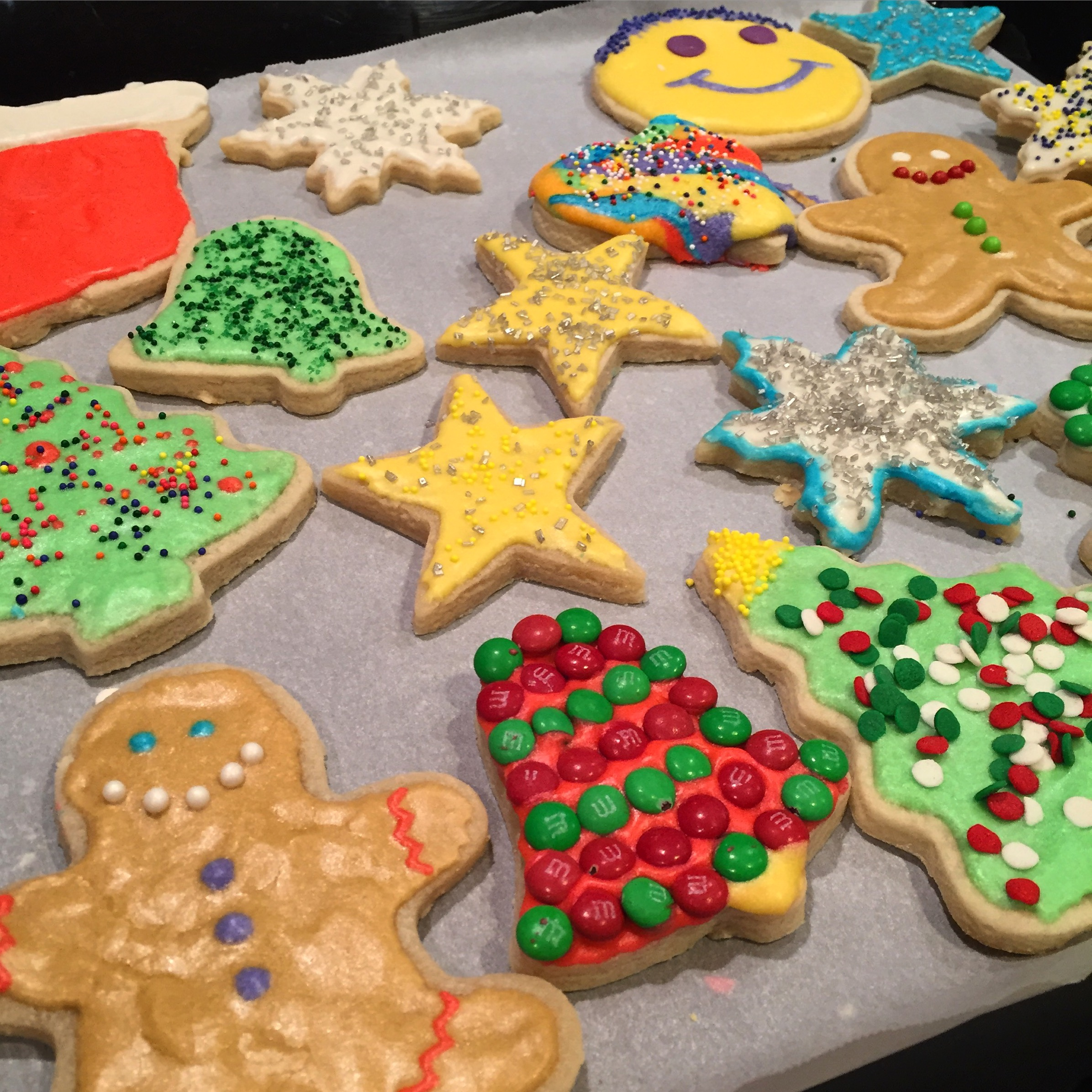 Here's some of the the Christmas sugar cookies my friends and I decorated when I had my community group over :)