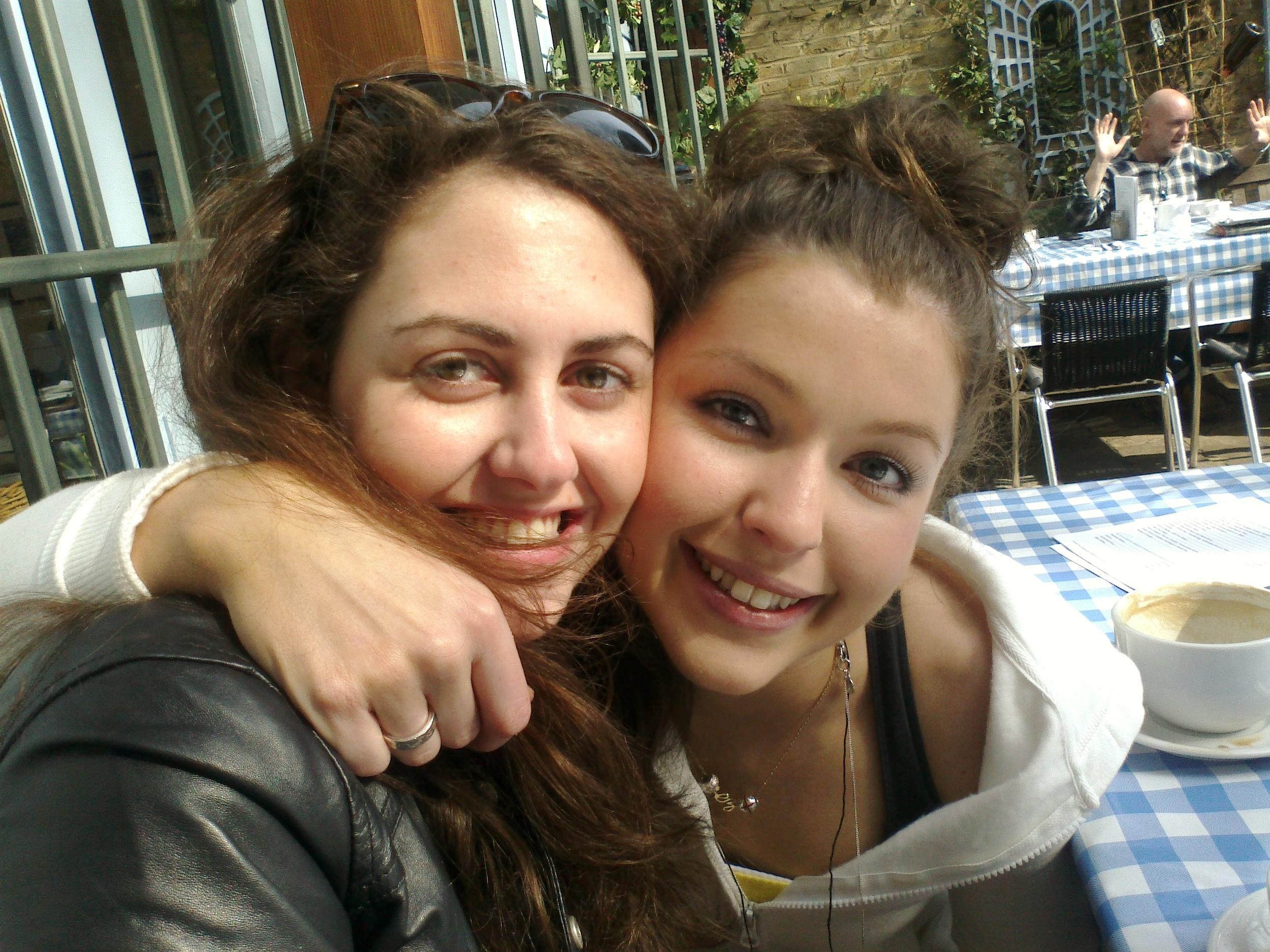 Sarah with her close friend, Christina Darmanin.