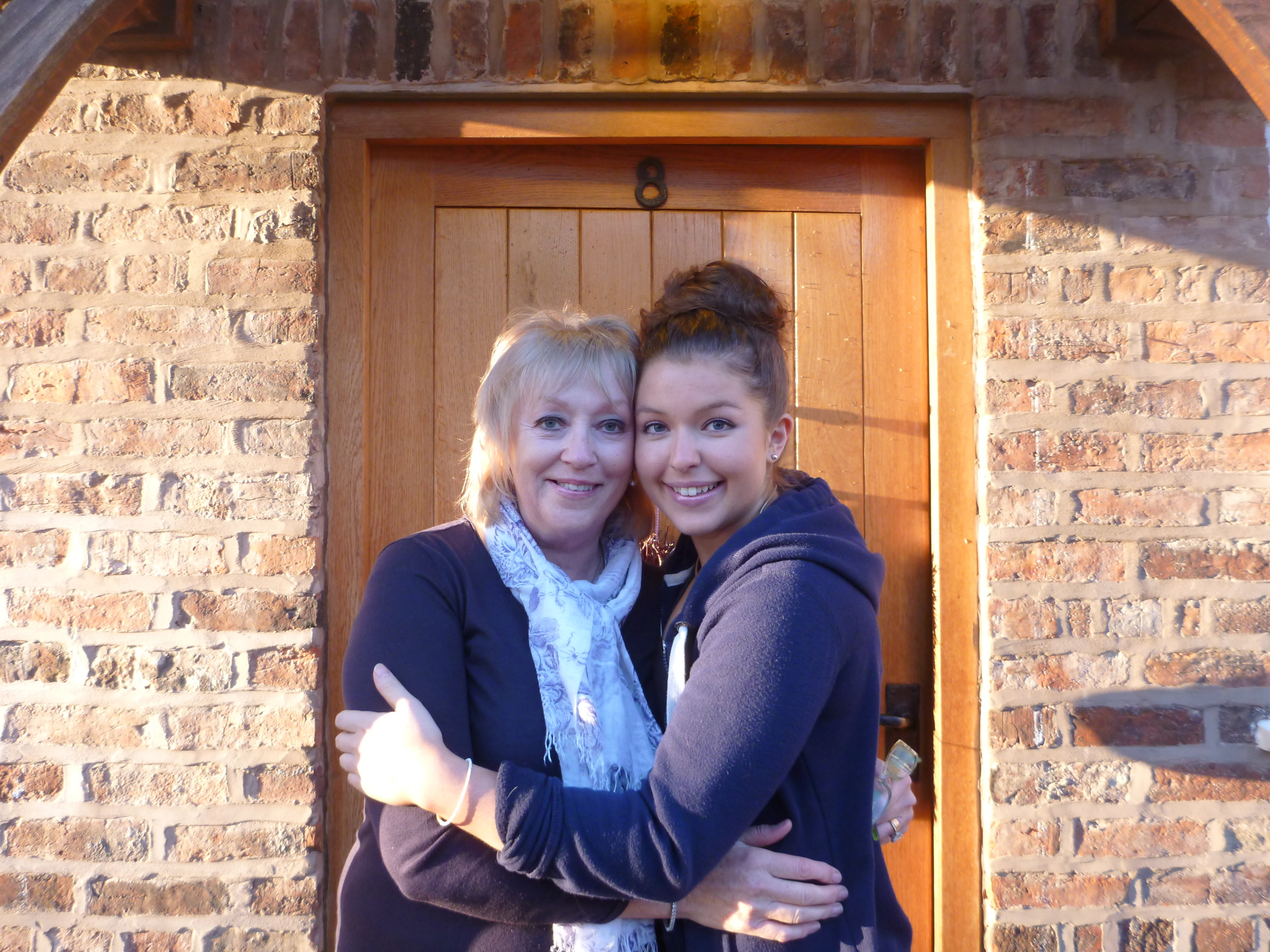 Sarah with her mother, Kate