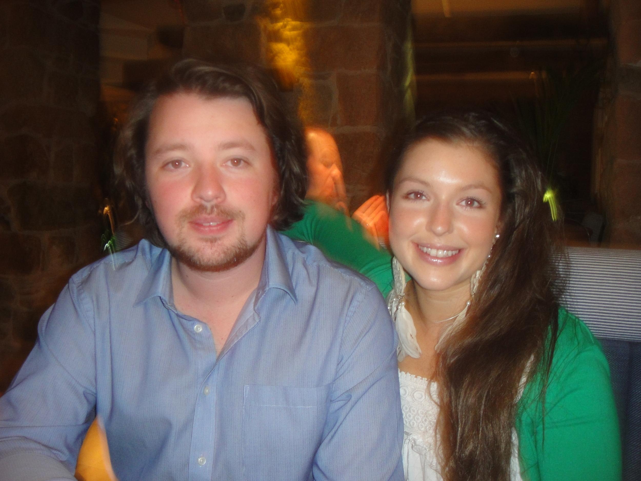Sarah with her brother, Ben