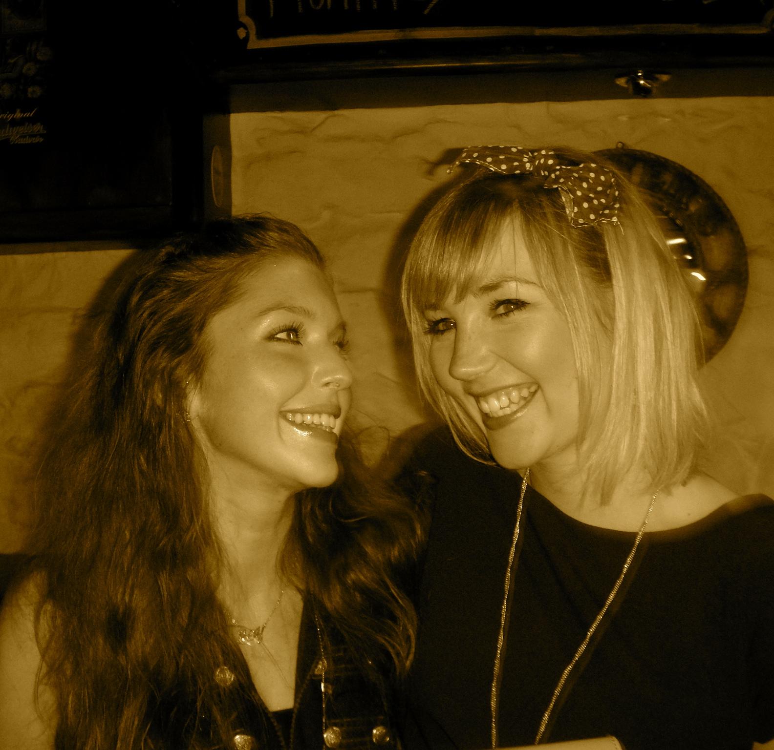 Sarah with her close friend, Sarah Martin