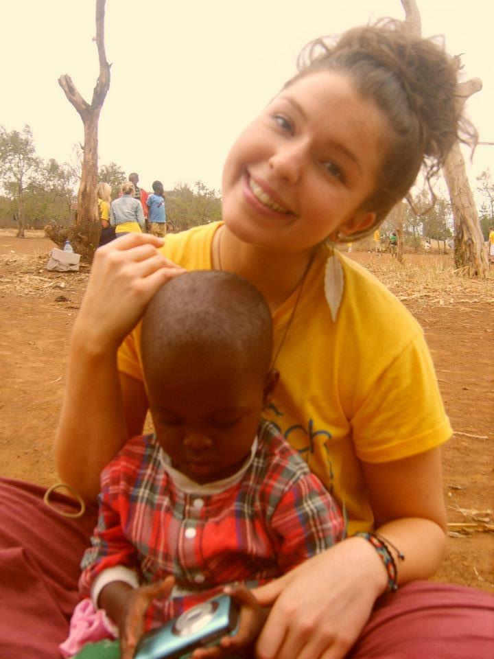 Sarah in Tanzania in 2012