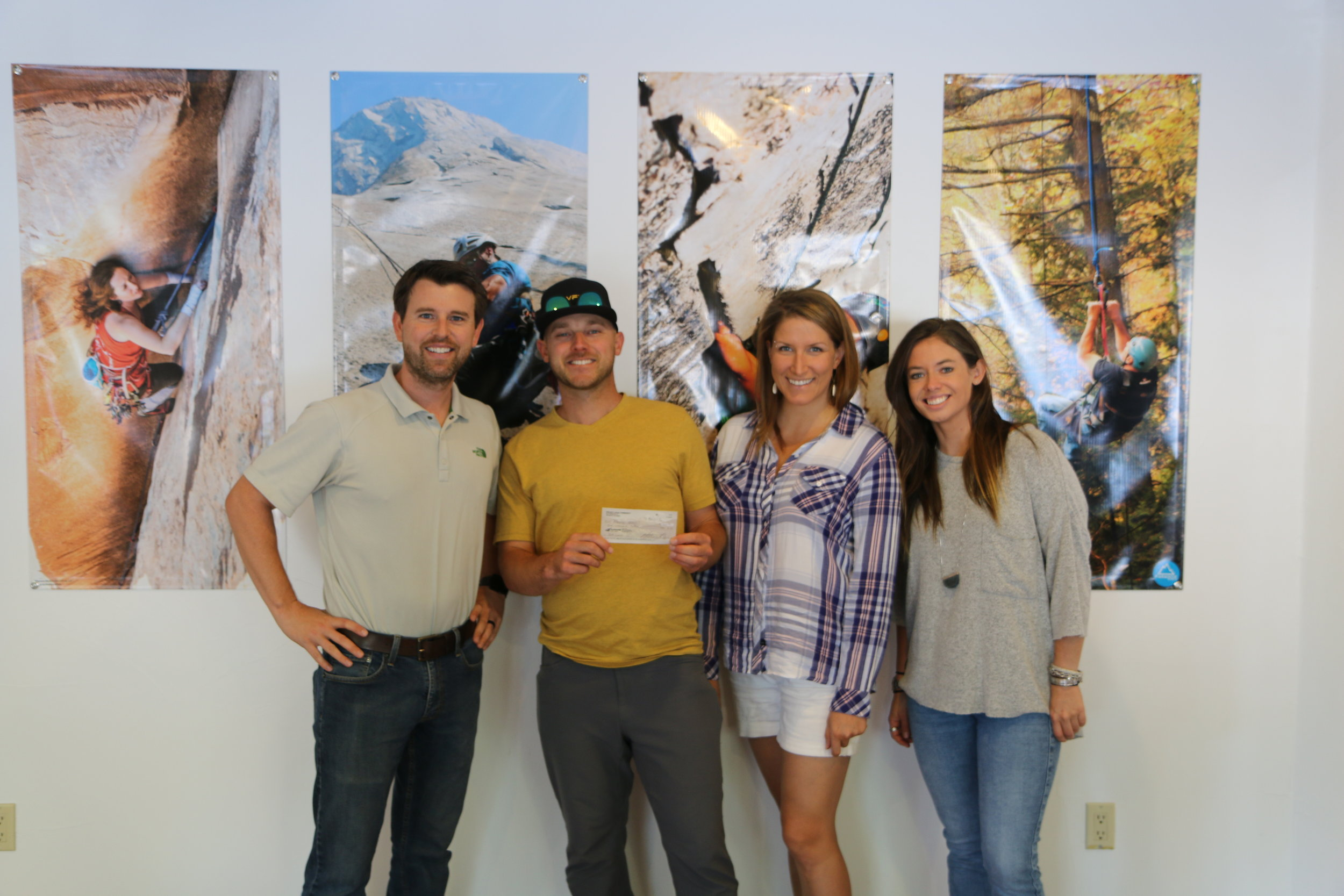 Grant award to Paradox Sports. Paradox seeks to revolutionize lives through adaptive climbing opportunities that defy convention.