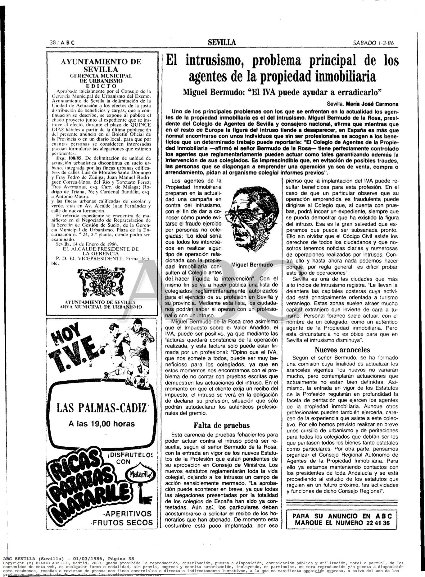 01 de Marzo de 1986