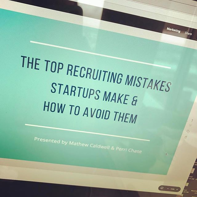 Now that I have #PHXStartupWeek speakers ready to go, I finally have time to do my own slides. Excited to be speaking with Mathew Caldwell on Friday. Our goal is to leave the audience with some real actionable items. And. We are going to livestream it. Interested in tuning in?  11am MST on Friday on my Facebook profile.  #entrepreneur #phxstartupweek #startups #startuplife #recruitment #recruiting #hr #scaling #mistakes