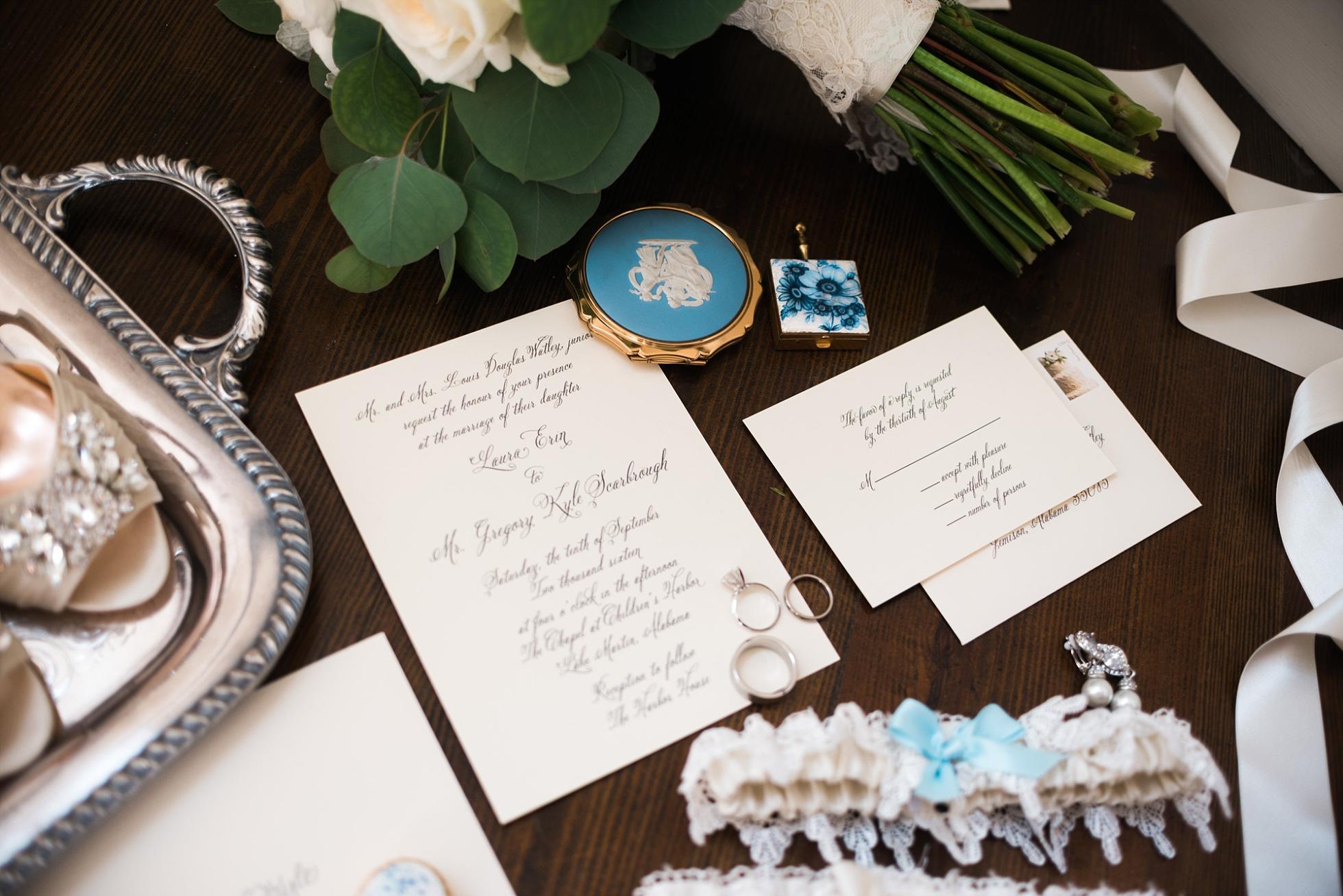 Bridal Details - Badgley Mischka | Kyle & Erin | Scarbrough Wedding | Children's Harbor | Laura Wilkerson Photography