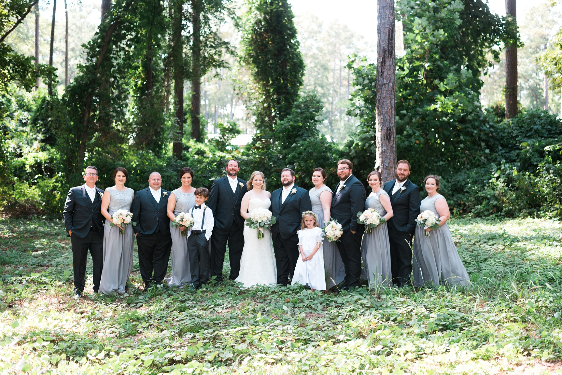 Wedding Party with Bride and Groom| Kyle & Erin | Scarbrough Wedding | Children's Harbor | Laura Wilkerson Photography