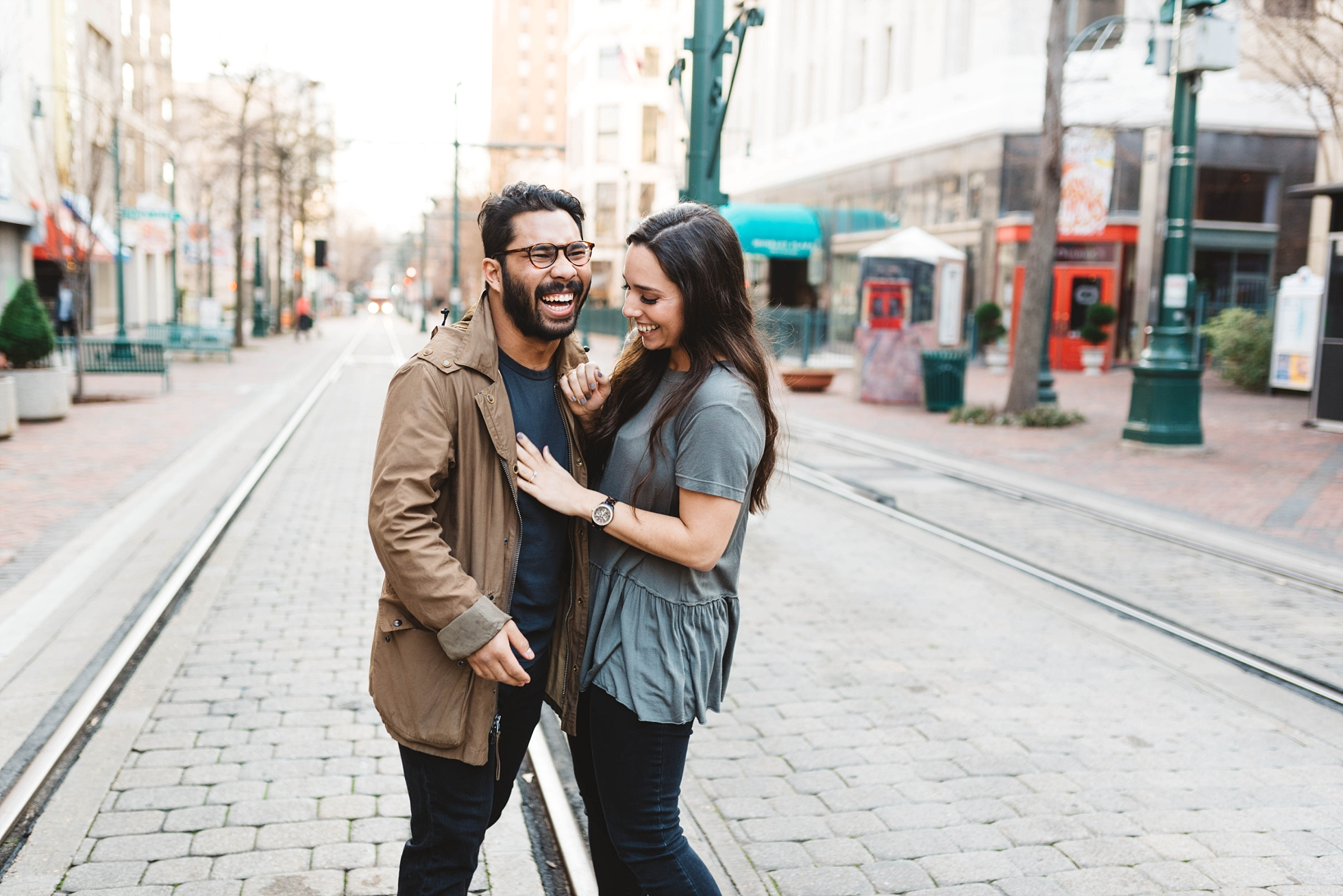 Downtown Memphis Engagement | Taylor & Alli