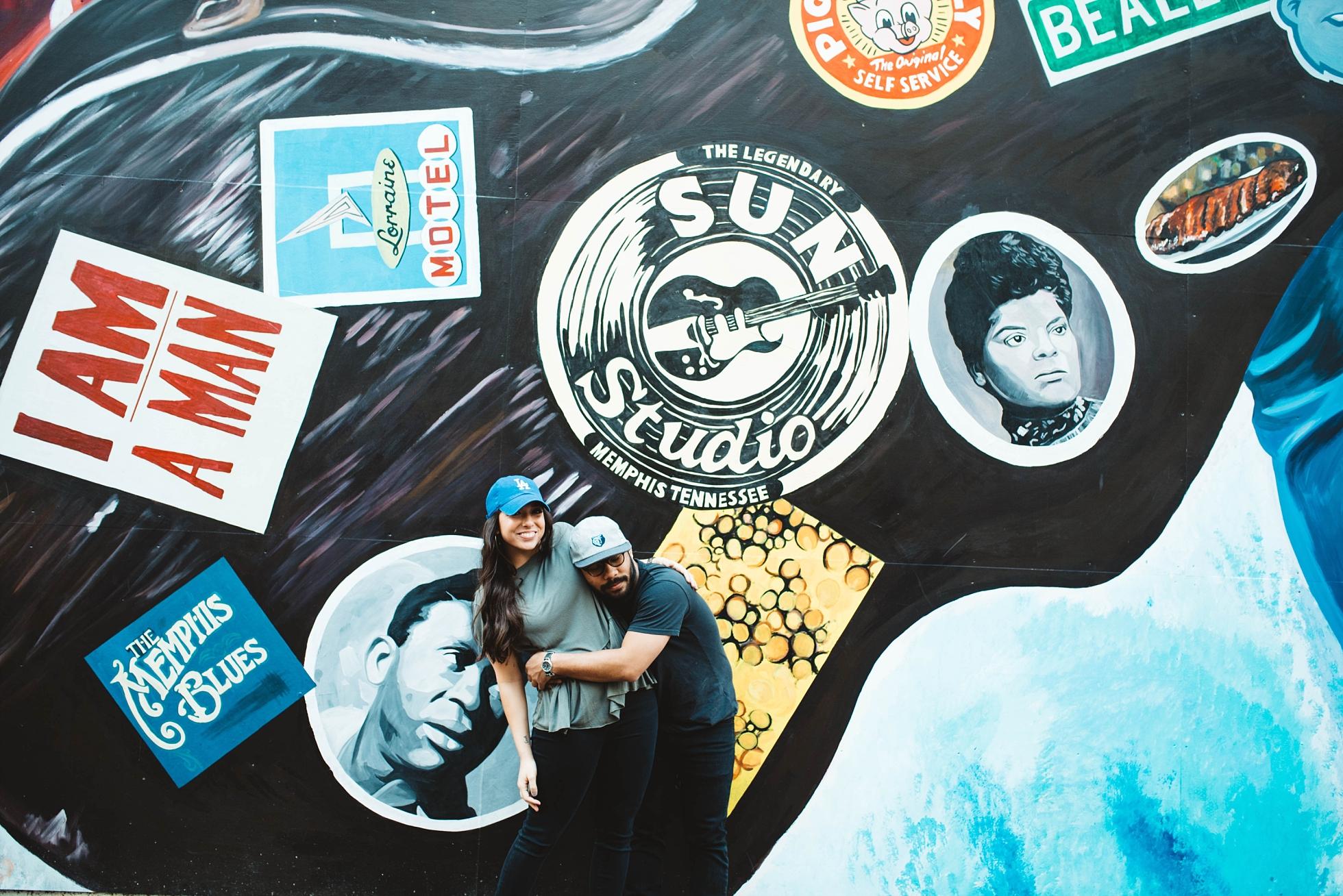 Mural | Downtown Memphis Engagement | Taylor & Alli