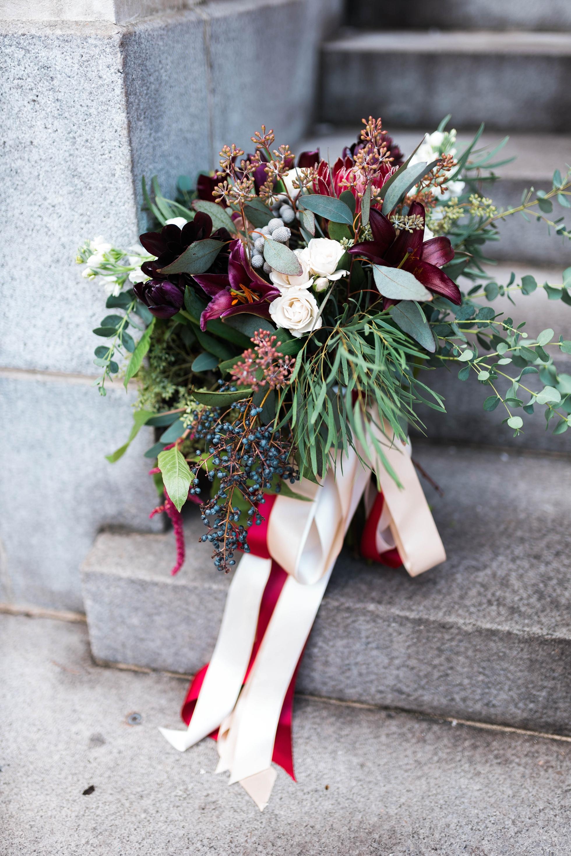 BRIDE'S BOUQUET| MATT & MEGAN | CAREY WEDDING | B&A WAREHOUSE | ST. FRANCIS XAVIER