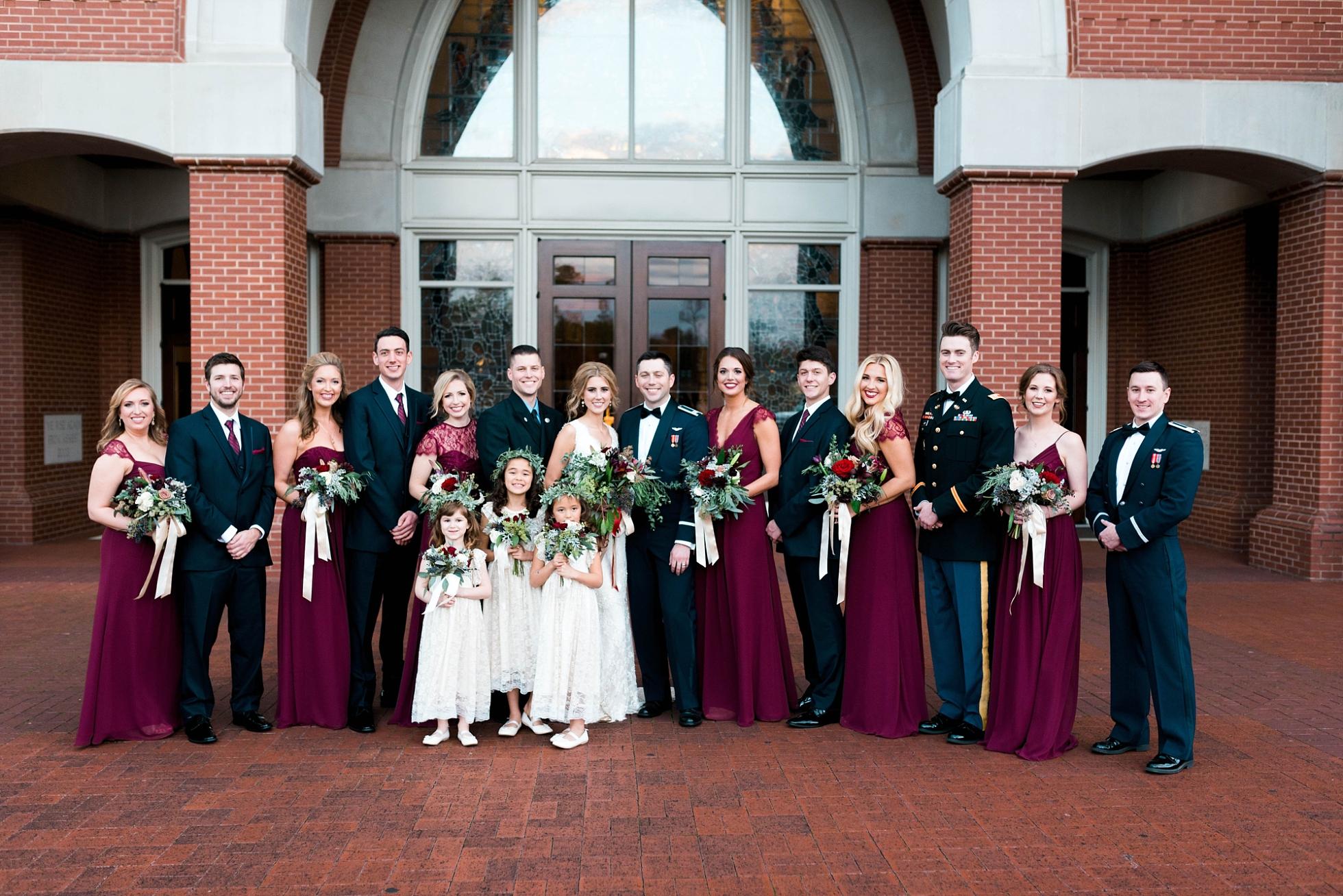 WEDDING PARTY | MILITARY WEDDING| MATT & MEGAN | CAREY WEDDING | B&A WAREHOUSE | ST. FRANCIS XAVIER