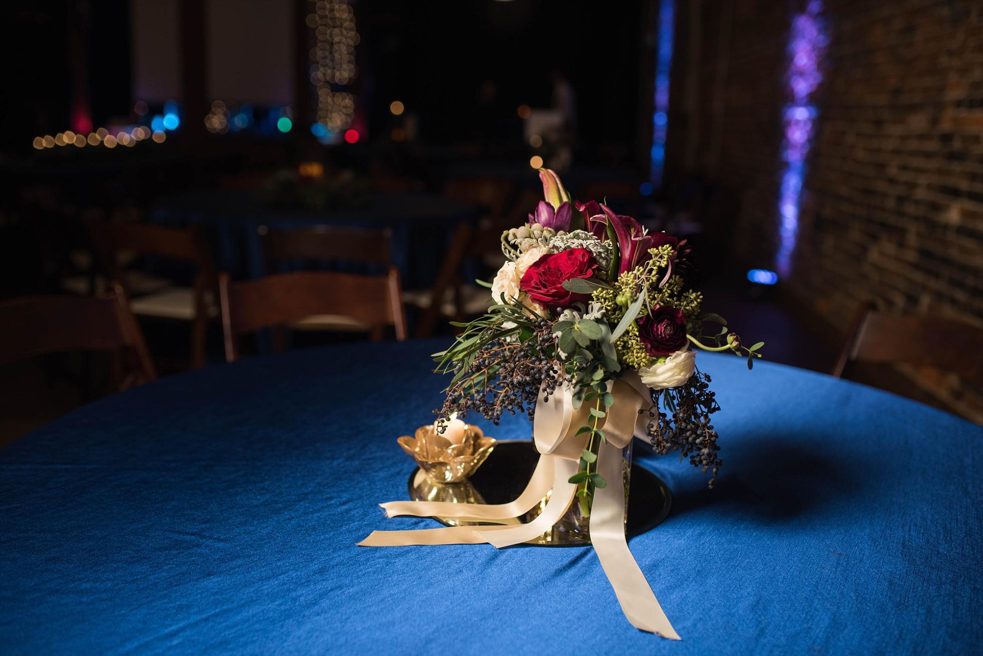 WEDDING CENTERPIECE | MATT & MEGAN | CAREY WEDDING | B&A WAREHOUSE | ST. FRANCIS XAVIER