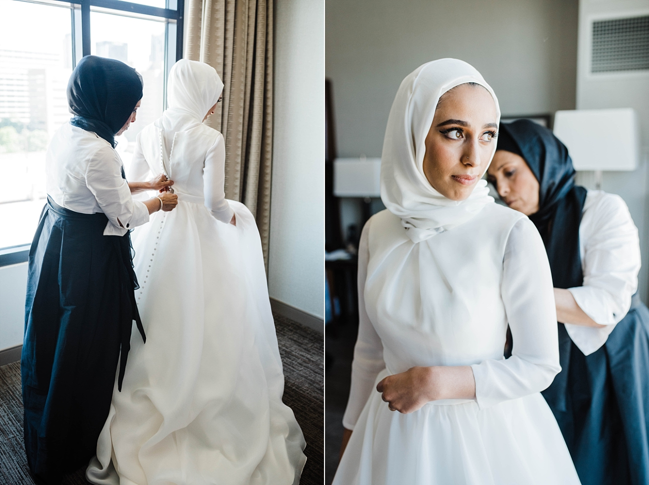 BRIDE GETTING READY | THE WESTIN | ADAM AND YASMEEN | A WEDDING AT THE FLORENTINE BUILDING | BIRMINGHAM, AL