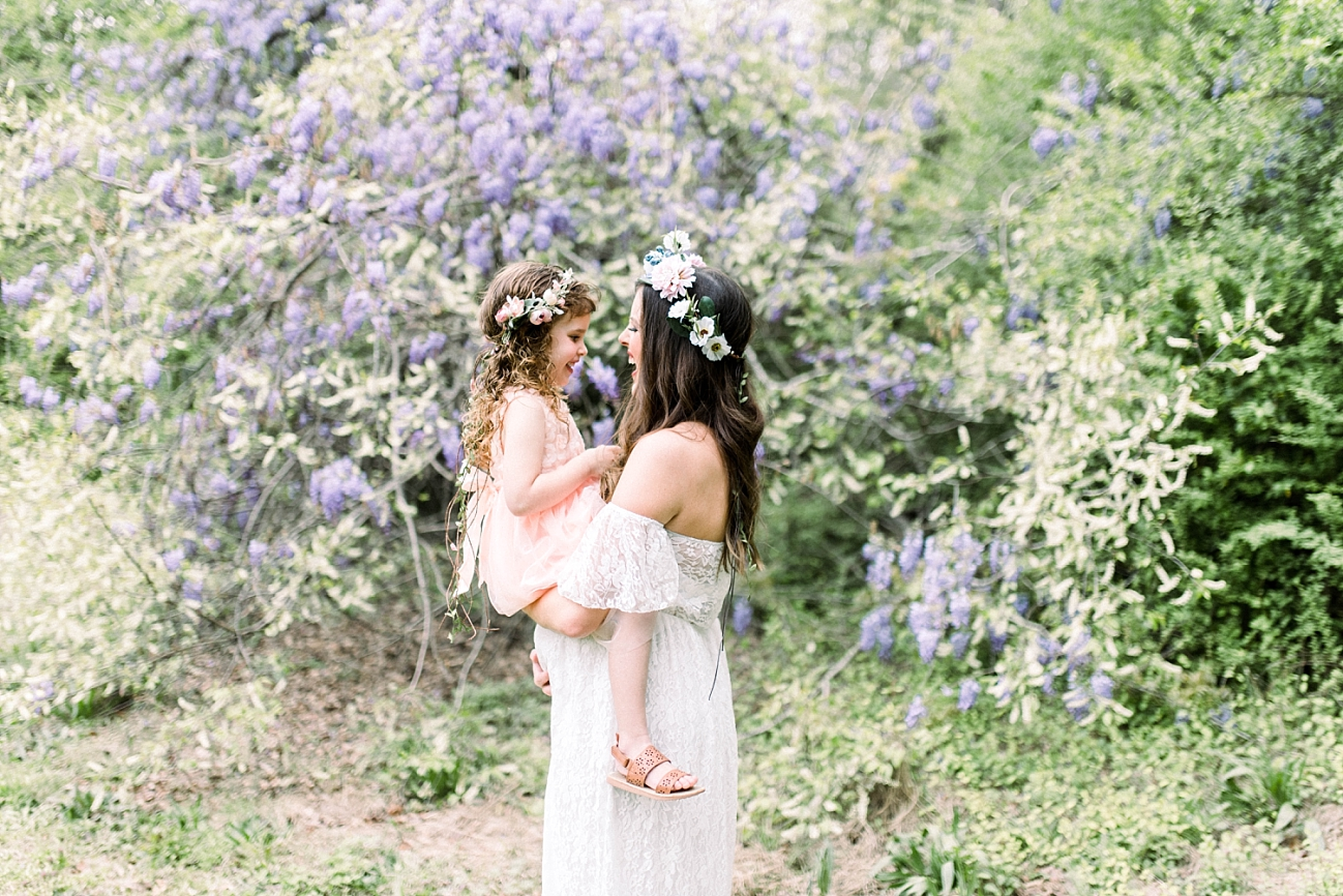 SEABROOK FAMILY | SPRING MATERNITY SESSION WITH WISTERIA | SPRINGVILLE, AL