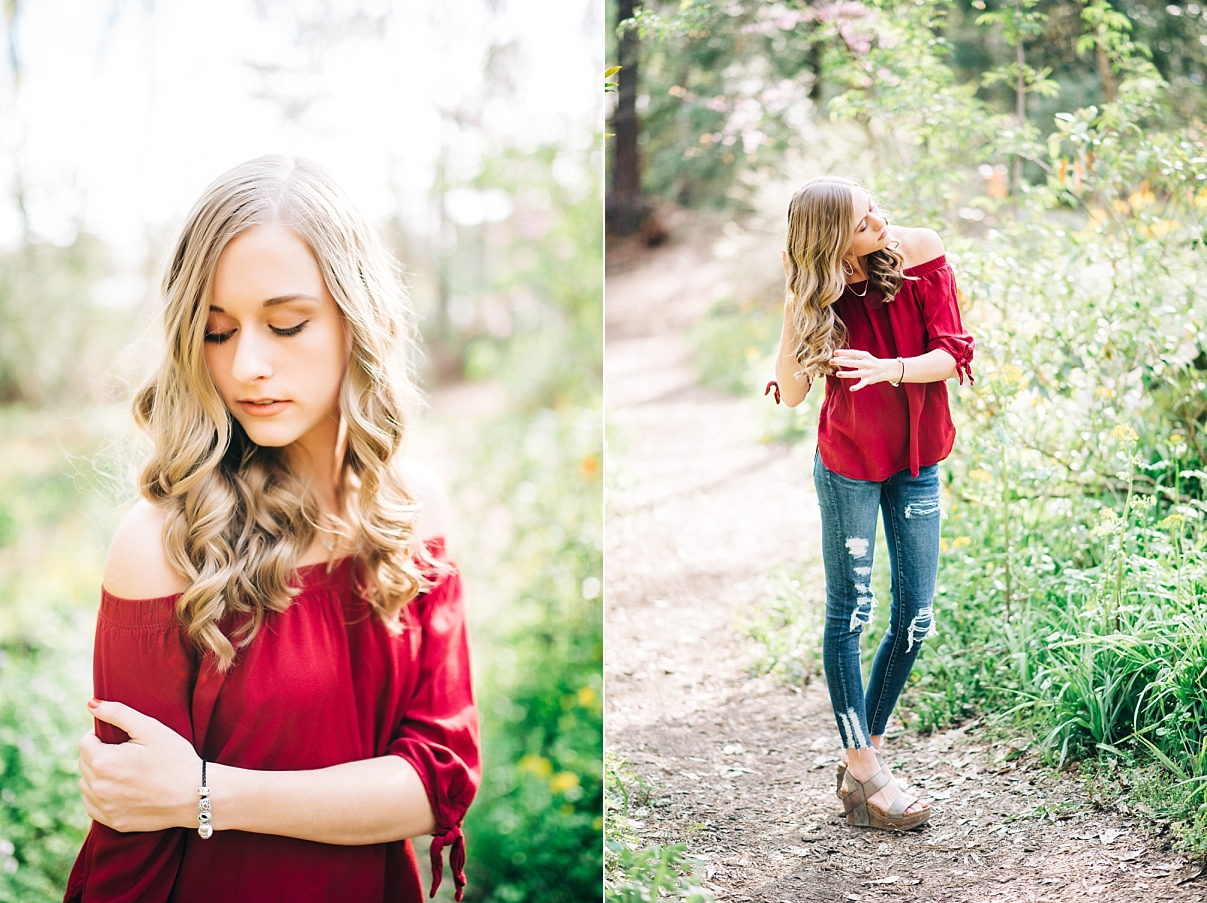 AUTUMN KEENUM | SPRING SENIOR PORTRAIT SESSION IN BIRMINGHAM