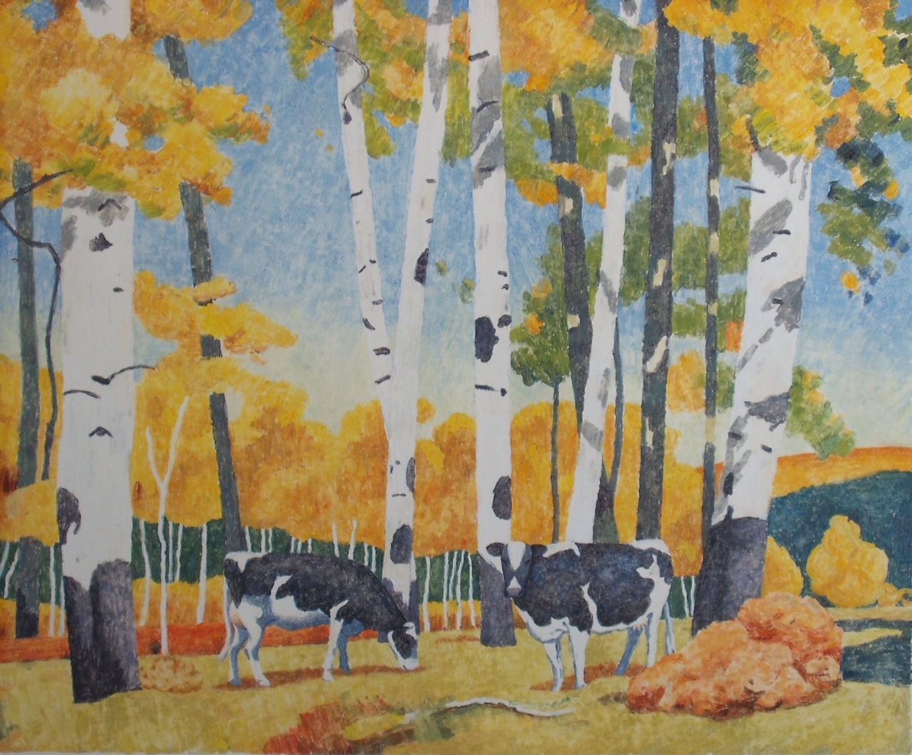 Cows in the Grove