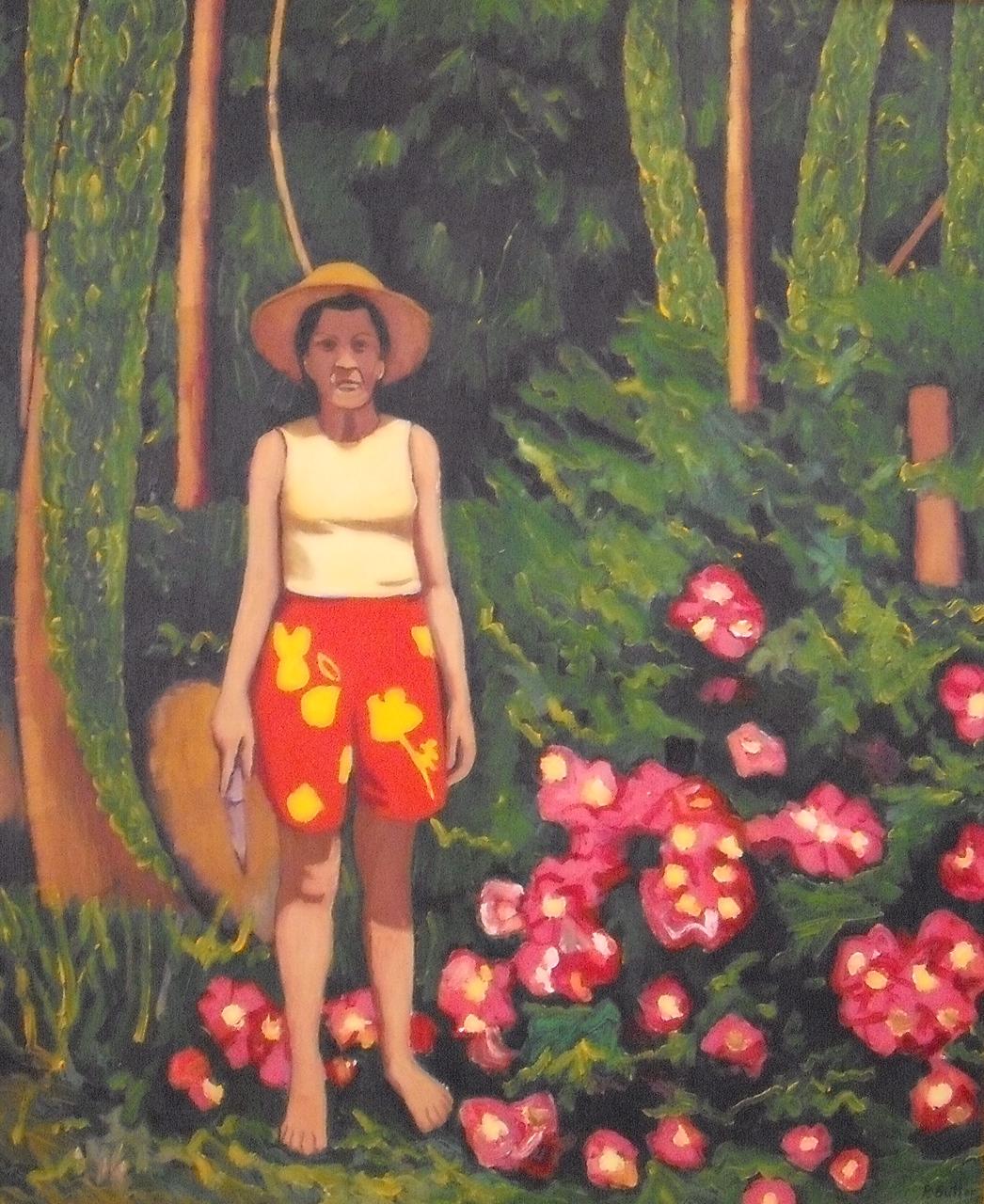 Evelyn in the Garden