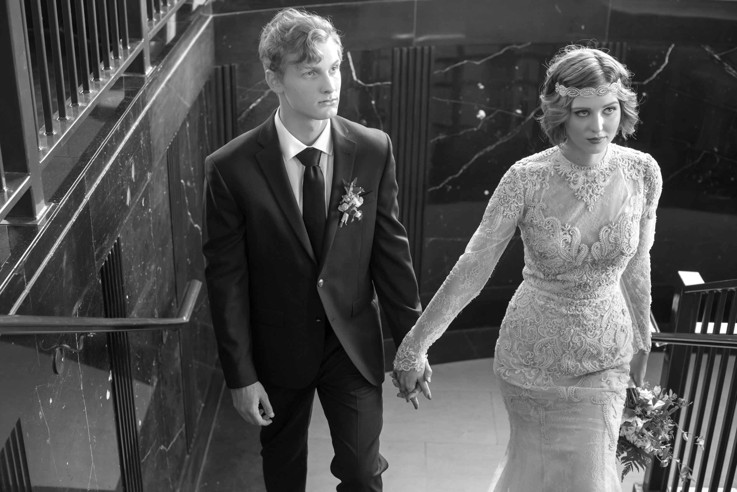 20's inspired wedding shoot at The Carlisle Room in Dallas, Texas