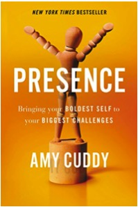Presence – Bringing Your Boldest Self to Your Biggest Challenges, by Amy Cuddy - Do yourself a favor and read this book. If you have – read it again. Of all the personal transformation books out there – this helped me the most. The key? The realization that our emotions affect our body language, just as much as our body language affects our emotions. So when I want to feel calm, powerful, and in control – I learned to act this way. I've seen a dramatic difference in my business and personal interactions. Thank you, Amy, for sharing all your great work.