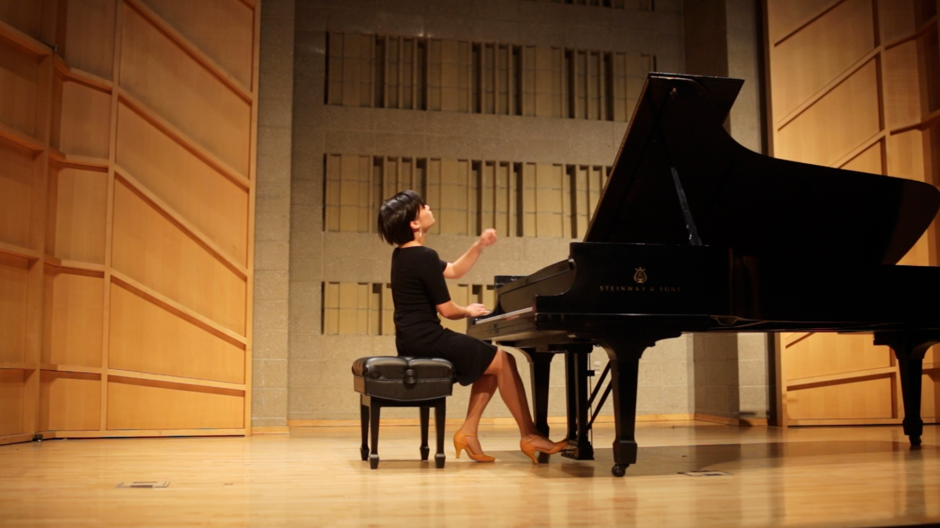 June Wu performs Liszt Hungarian Rhapsody No. 12 at the Baruch Performing Arts Center in NYC in April 2014.