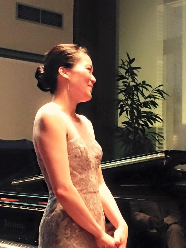June Wu after performing a solo recital at the Chambre des Notaires in Paris featuring works by Liszt, Beethoven, Chopin, Brahms, and Couperin on June 3, 2015.