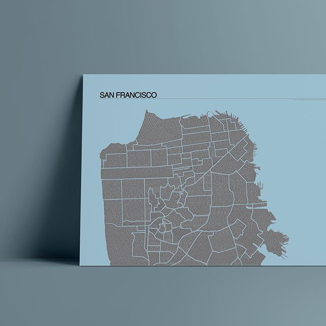 "Excited about these! San Francisco Map of Quotes now finished and available online at 13""x19"", with each neighborhood crammed with juicy quotes, songs, and poetry throughout time // Free shipping on these and available in 4 different colors #posterdesign #sanfranciscoart #sfart #sfartscene #graphicdesign #mapart #cartographyart #modernmapart #sanfranciscolove #sfartist #graphicartist #graphicartists #sellartwork #sellart #printforsale #map #artwork_daily #quotesaboutlife #quotestoliveby #poetryporn #quoteslover #inspirationalquotes #inspirationquote #quotes #sflove #bayareaart #bayareaartists #beatpoetry"