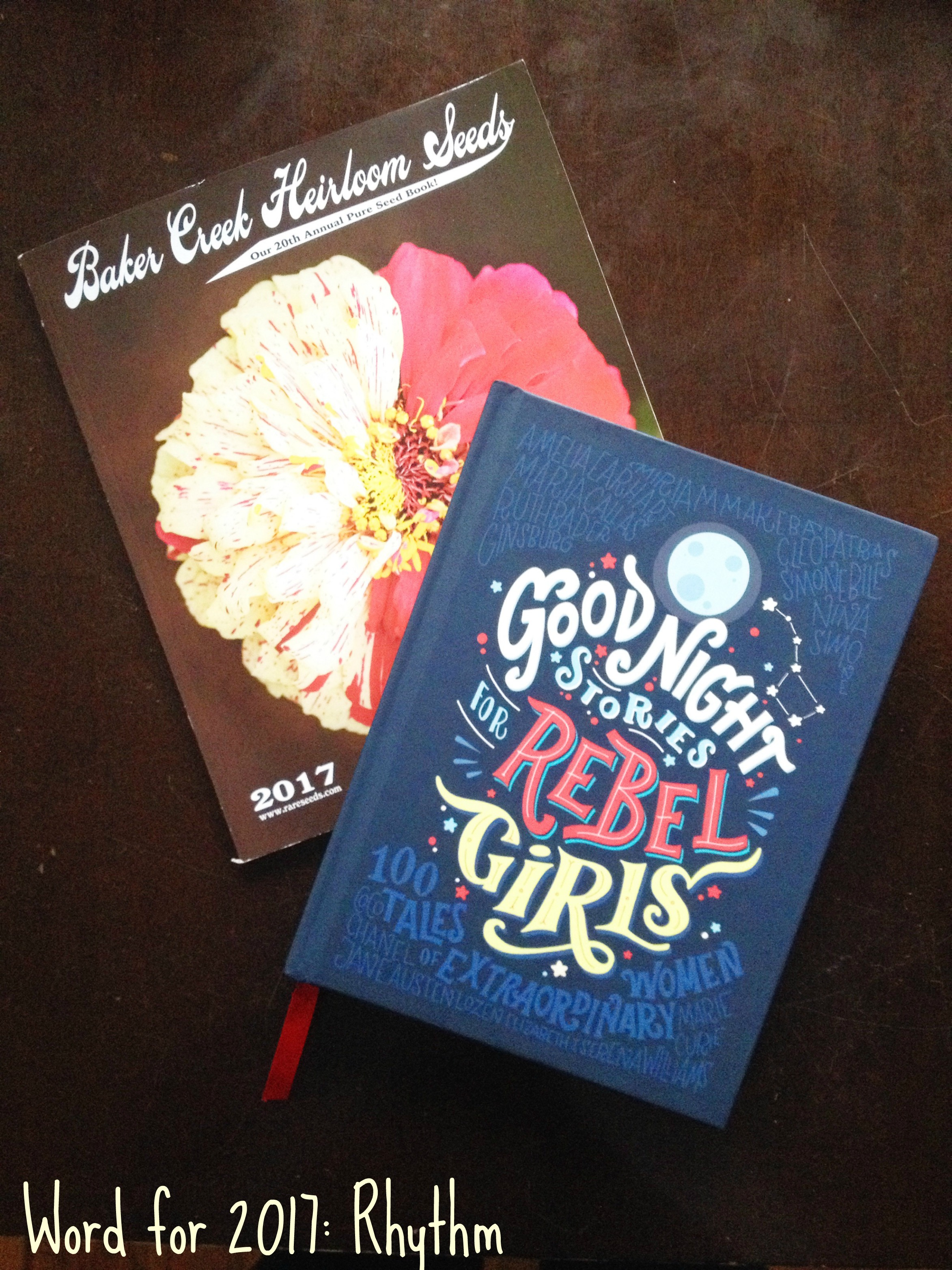 Rhythm is also circling seeds for the garden and reading about women
