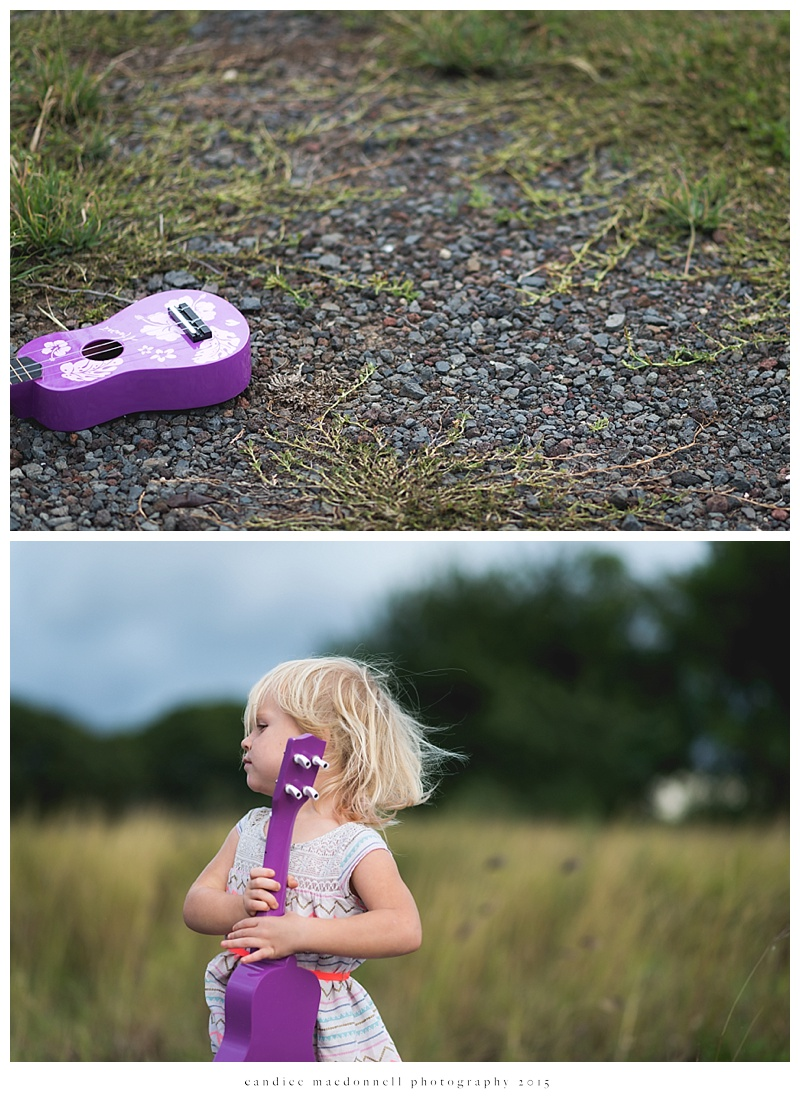 free spirited girl and her ukulele © candice macdonnell photography