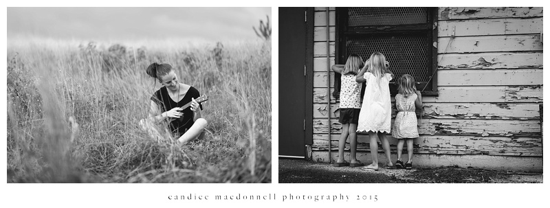 children peeking in window © candice macdonnell photography