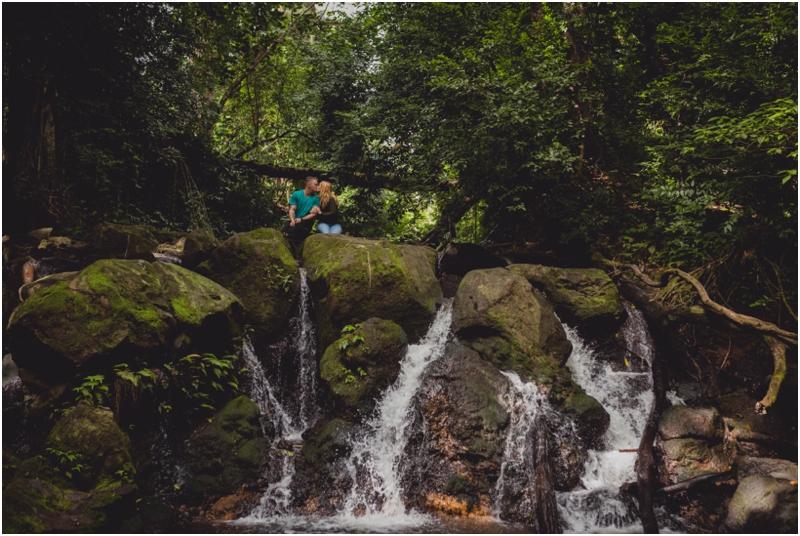 couples waterfall documentary hike