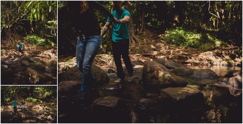 couples waterfall documentary hike hawaii