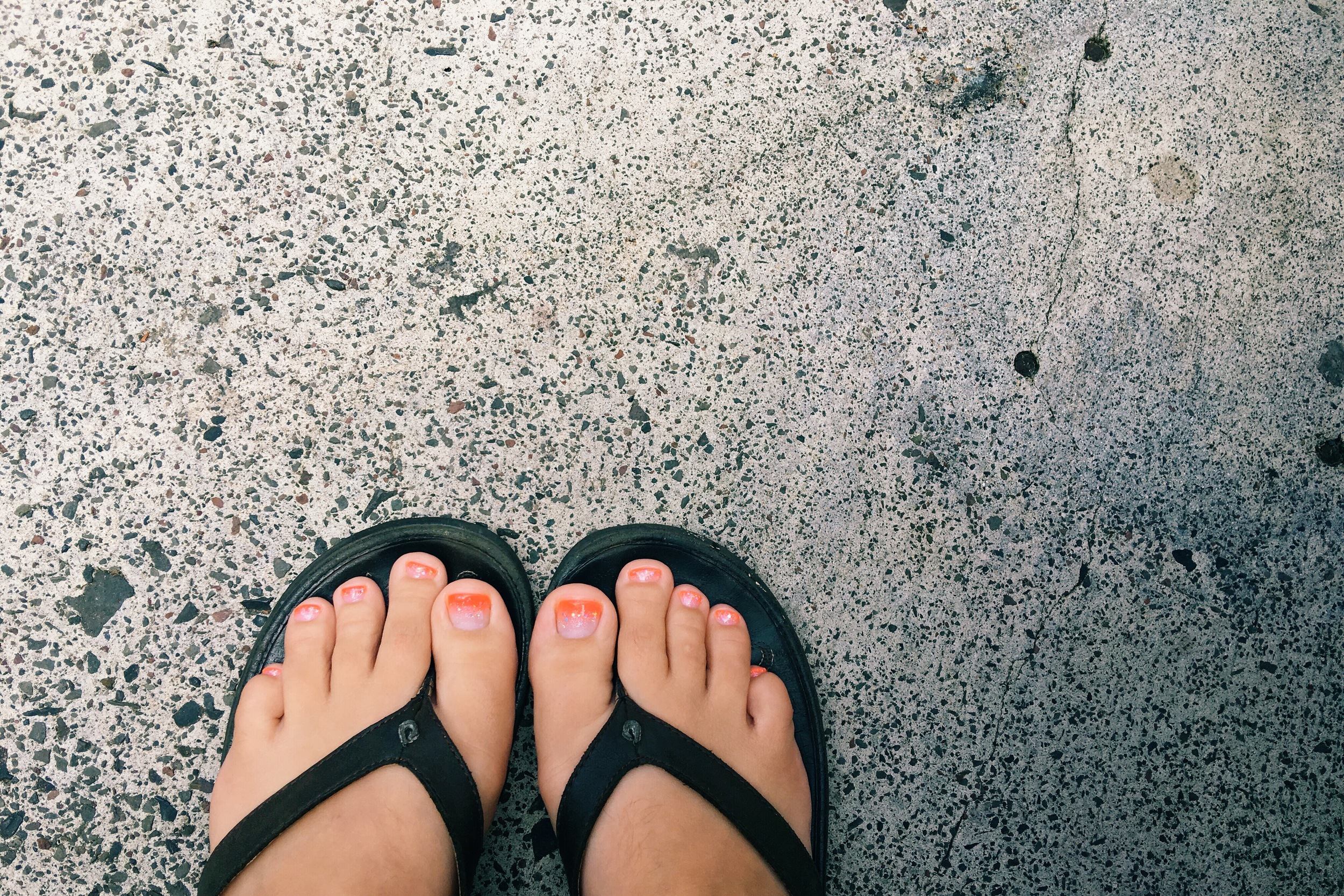 My toes look super fancy. I really was overdue for a pedicure.