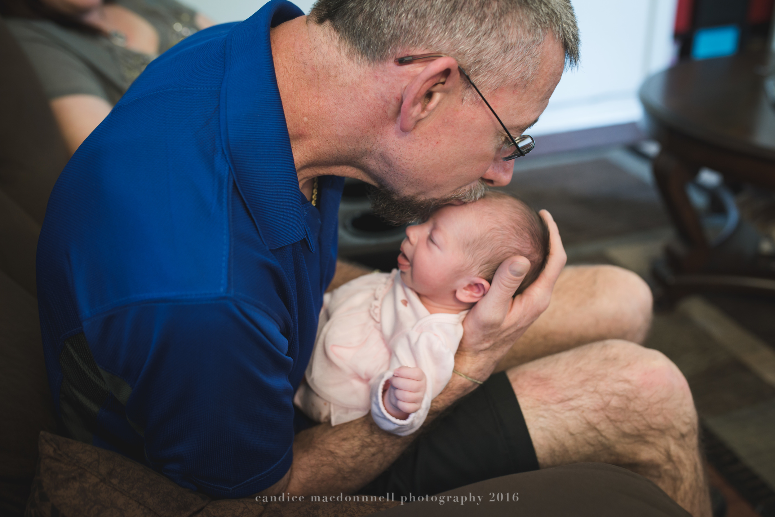 newborn baby with first time grandpa lifestyle photograph oahu hawaii photographer